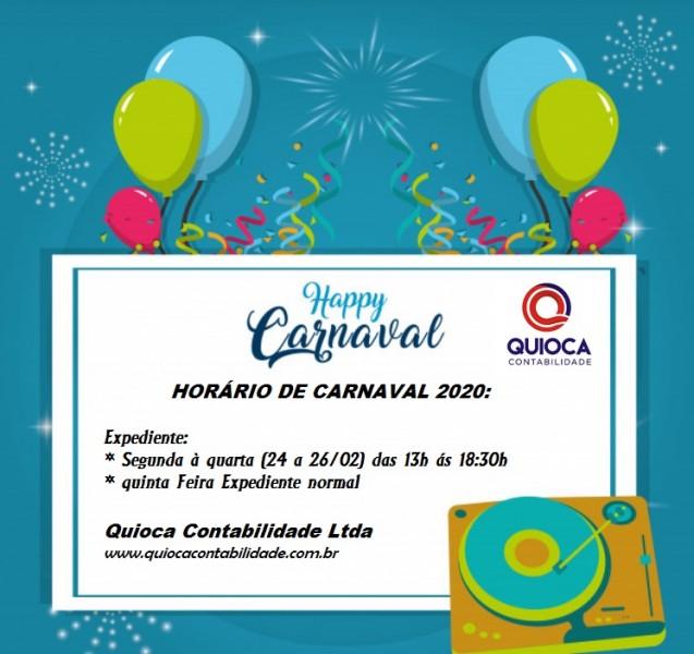 Expediente Quioca Contabilidade no carnaval 2020!!!