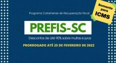 Prefis para ICMS é prorrogado em Santa Catarina